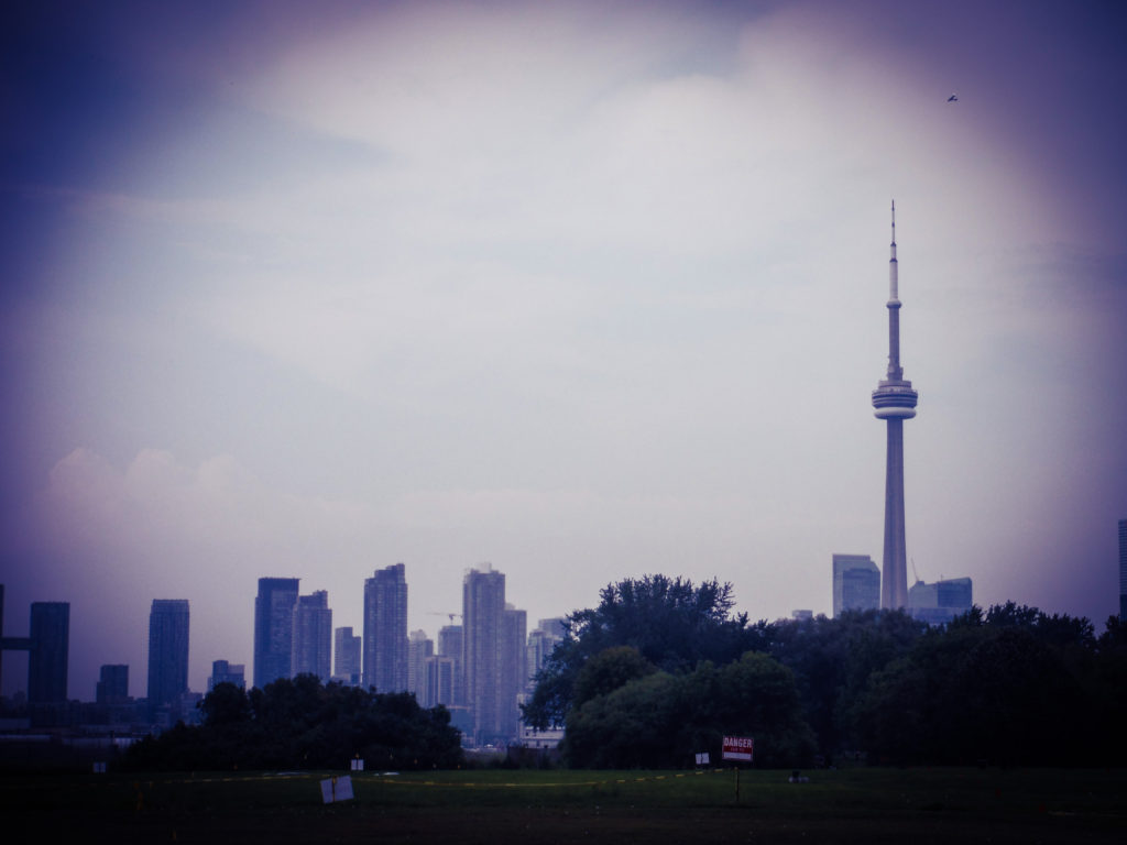 The Toronto skyline on an overcast day