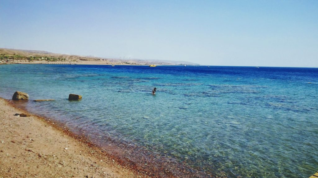 Crystal clear waters of Aqaba, Jordan