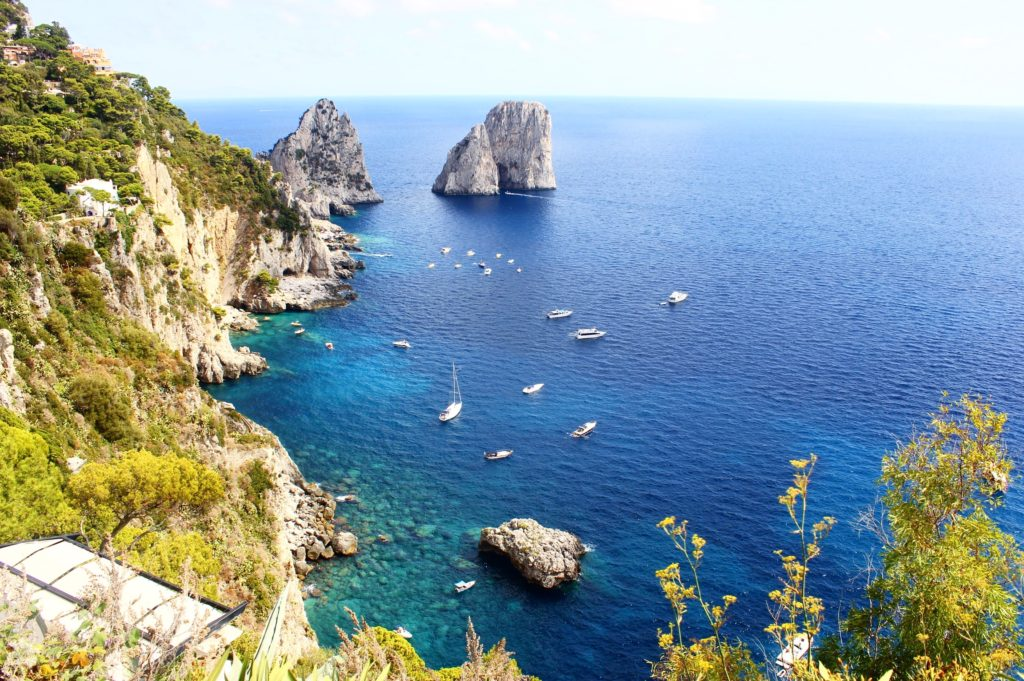 Irresistible blue waters of Capri Island, Italy