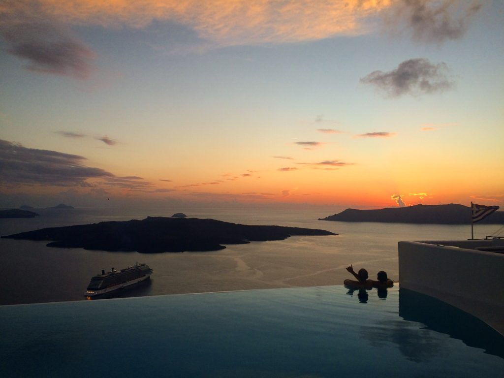 Another splendid sunset in Santorini, Greece