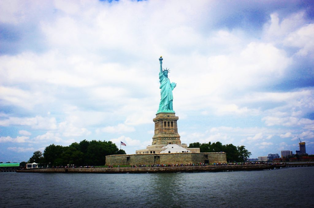 Statue of Liberty on a beautiful day, New York