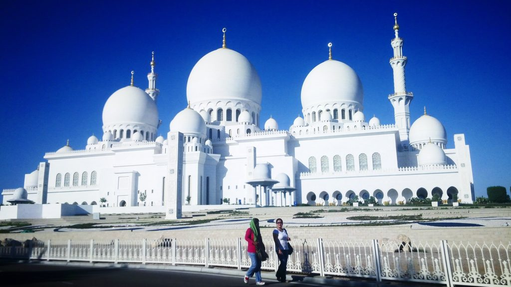 The marble white Grand Mosque, Abu Dhabi