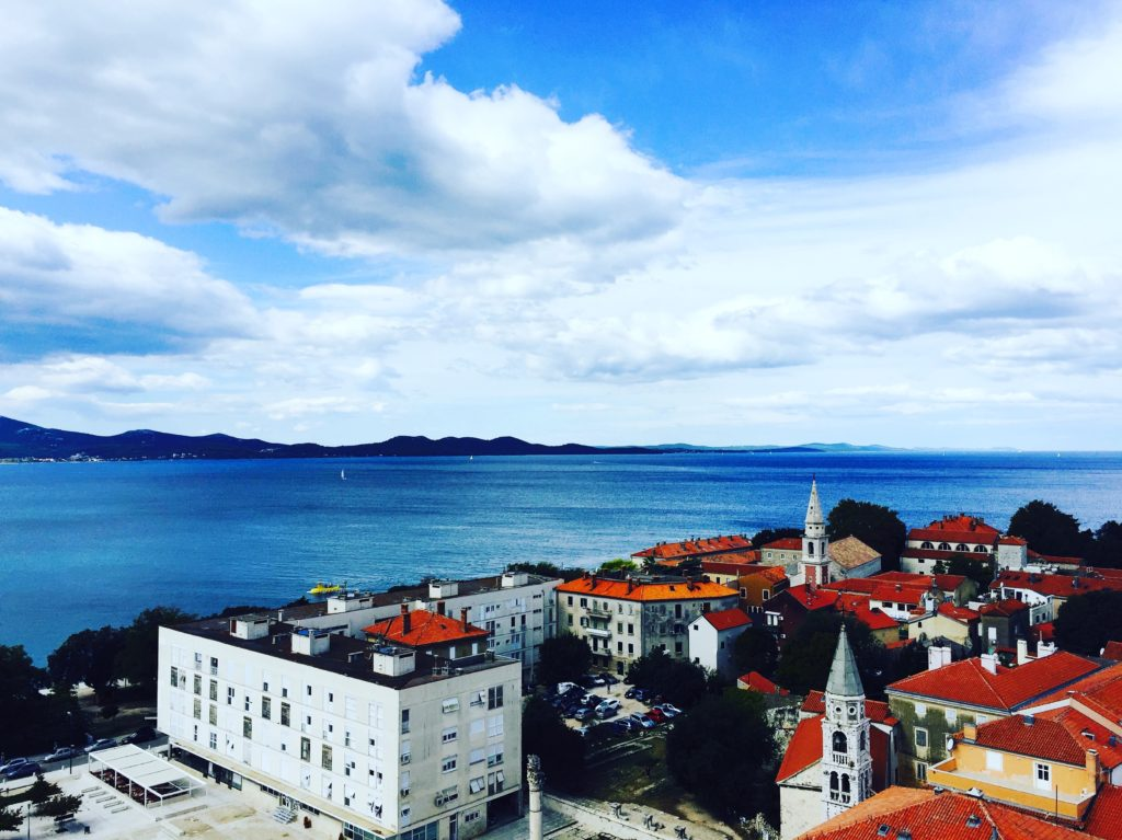 The red rooftops and blue seas of Zadar, Croatia